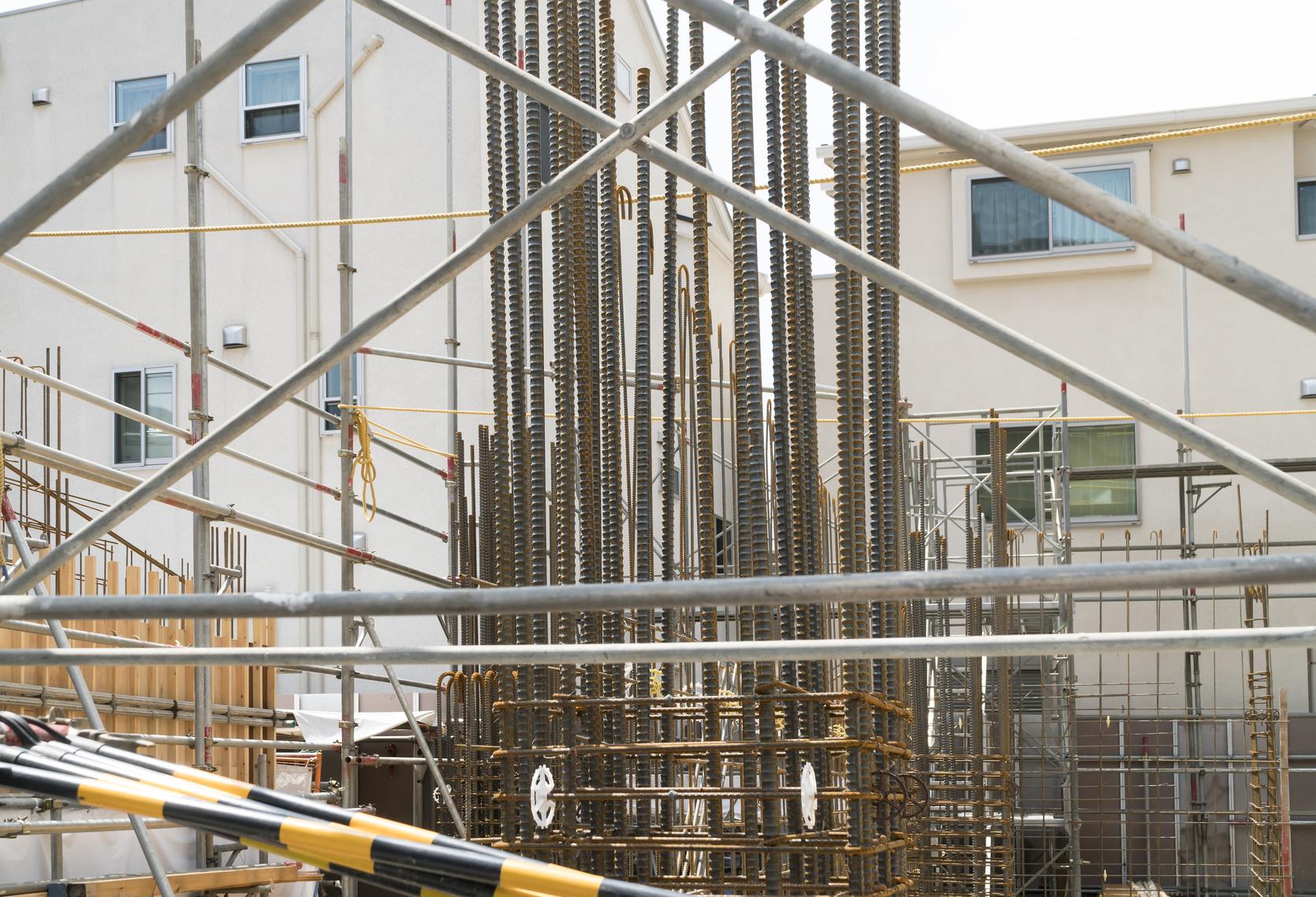 鉄筋コンクリート構造 RC 基礎工事現場 イメージ